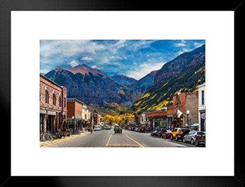 - Poster Foundry Main Street Telluride Colorado Photo Art Print Matted Framed Wall Art 26x20 inch