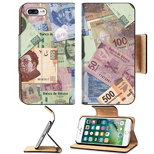 Liili Premium Apple iPhone 7 Plus Flip Pu Leather Wallet Case iPhone7 (Pesos Bill)