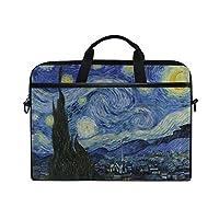 AHOMY Starry Night Laptop Bag 14-15 Inch, Van Gogh Laptop Messenger Bag Shoulder Sleeve Case Tablet Briefcase