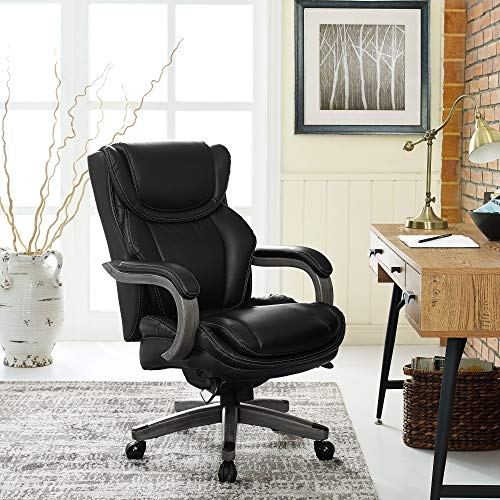 LaZBoy Big & Tall Executive Chair Bonded Leather, Black