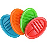 (Set/4) Taco Divider Plates Set - Keep Shells Upright Dish W/ Side Sections