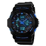 Kid LED Watch Child Boy Girl Sport Multi Function Digital Waterproof Electronic Quartz Watches Blue