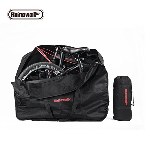 Rhinowalk 20 Inch Folding Bike Bag,(Waterproof Bicycle Travel Case Outdoors Bike Transport Bag for Cars Train Air Travel)