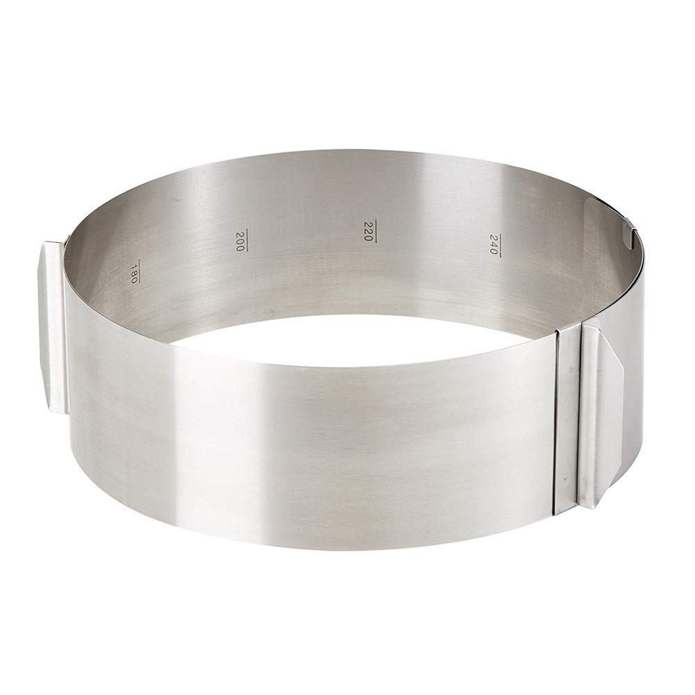 Katech Adjustable Stainless Steel Cake Mold Ring Round Mousse Mold 6-12 inch
