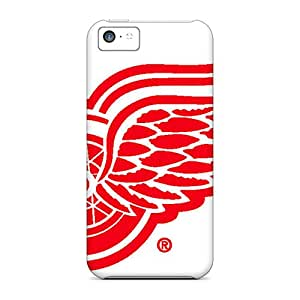 Bumper Hard Cell-phone Cases For Iphone 5c With Custom Realistic Detroit Red Wings Pattern KellyLast