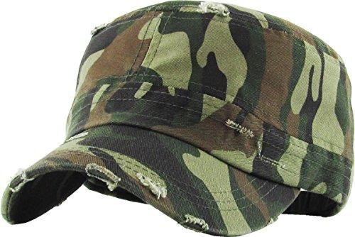 Funky Junque H-217-D84 Cadet/Army Cap - Distressed Camo