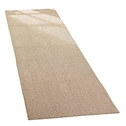 Extra-wide Extra Long Non Slip / Anti Skid Floor Hallway Kitchen Runner Rug, Sand, 28\