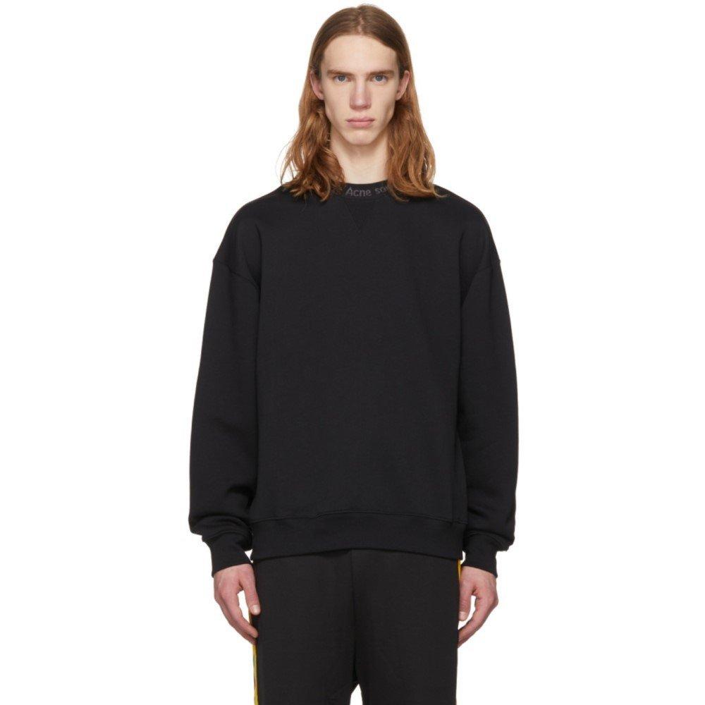 (アクネ ストゥディオズ) Acne Studios メンズ トップス スウェットトレーナー Black Flogho Sweatshirt [並行輸入品] B07D148F4Y M