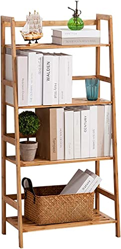 Best modern bookcase: sogesfurniture Bamboo 4-Tier Multifunctional Storage Rack Stand