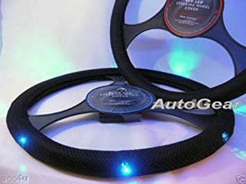 New Drivers Steering Wheel Cover Softy Black-Look Fitted Glove Easy Slip On
