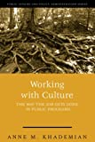 Working With Culture: the Way the Job Gets Done In Public Programs (Public Affairs and Policy Administration Series)