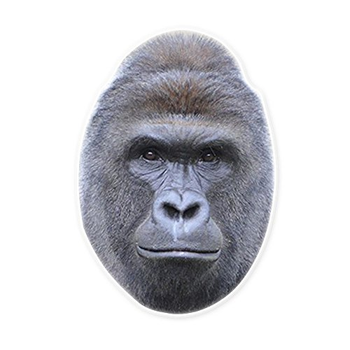 Gorilla Halloween Mask (Harambe The Gorilla Mask - Perfect for Halloween, Masquerade, Parties, Events, Concerts - Jumbo Size Waterproof)