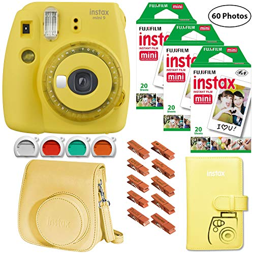 Fujifilm Instax Mini 9 (Yellow with Clear