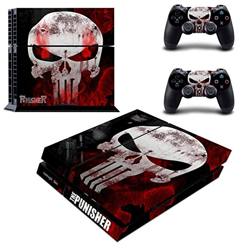 Vanknight Vinyl Decal Skin Sticker Punisher Skull for PS4 Playstaion Controllers