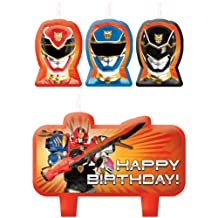 Amscan Power Rangers Samurai Molded Cake Candle Set