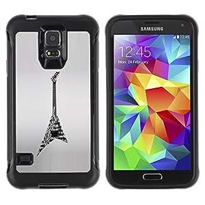LASTONE PHONE CASE / Suave Silicona Caso Carcasa de Caucho Funda para Samsung Galaxy S5 SM-G900 / Rock Heavy Metal Art Drawing