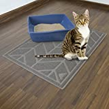 Cat Litter Mat by Alpine Neighbor | XL Jumbo Size to Trap Litter and Keep Floors Clean | Decorative Chevron Design Cover Extra Large Kitty Litterbox Tray for Small Pet Rug Cats/Dog Food Cleaning Mats