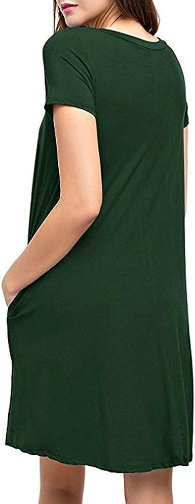 Elegancka sukienka letnia sukienka damska casual długa koszulka luźna tunika krÓtki rękaw koszulka sukienka koktajlowa sukienka minisukienka casual na co dzień sukienka na imprezę: Odzież