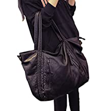 Big Capacity Fashion Women Handbags Soft Leather Lady Tote bag Woven Pattern Shoulder Bag(Big)