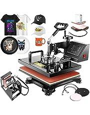 "Professional Start-Up Heat Press Machines 12"" x 15"" Swing Away 5 in 1 Digital Multifunctional Sublimation T-Shirt Heat Press Machine for Shirts Hat Mug Cap Plate"