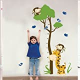 Giraffe Growth Chart Wall Sticker Decal JM7132 by BestOfferBuy