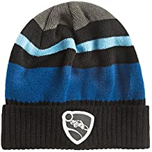 JINX Rocket League Synergy Knit Beanie (Black/Blue, One Size)