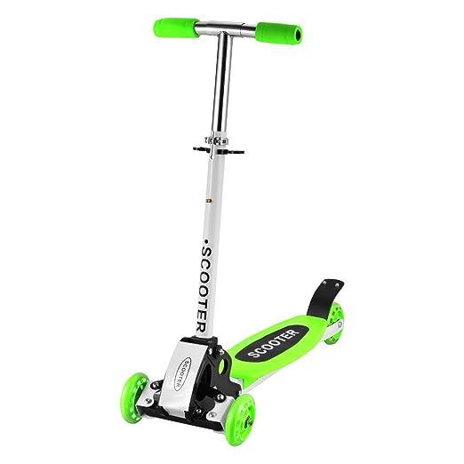 cooshional Patinete Scooter 4 Ruedas Plegable Altura Adjustable para Niños