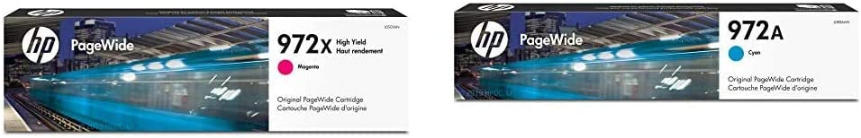 HP 972X | PageWide Cartridge High Yield | Magenta | L0S01AN & 972A | PageWide Cartridge | Cyan | L0R86AN