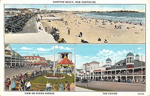 - Hampton Beach New Hampshire Casino Beach Multiview Antique Postcard K86179