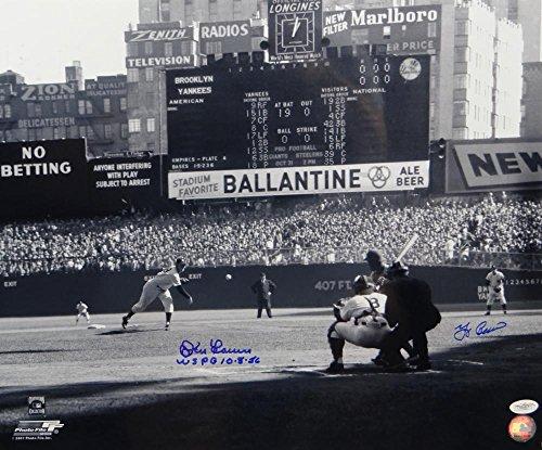 Don Larsen/ Yogi Berra Autographed NY Yankees 16x20 w/ Insc Photo- JSA (Don Larsen Autographed Photo)