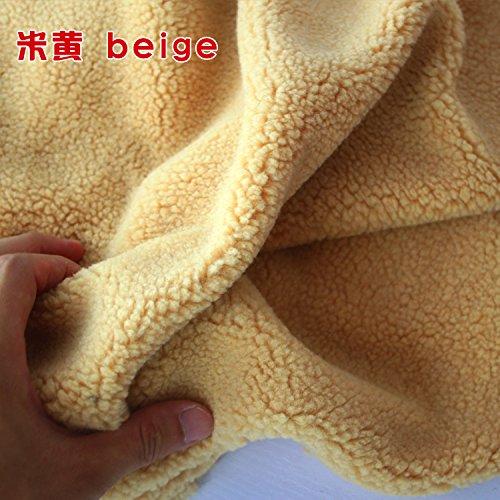 Faux Lambwool Sherpa Fleece Lamb Fur Fabric Berber Fleece Sweater Collar Liner Lining Cloth Faux Wool 60
