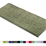 MAYSHINE Bath mat Runners Bathroom Rugs,Long Floor mats,Extra Soft, Absorbent, Thickening Shaggy Microfiber,Machine-Washable, Perfect Doormats,Tub, Shower (27.5x47 inches, Sage Green)