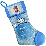 Babys First Christmas Stocking; Baby Boy Stocking