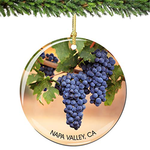 (City-Souvenirs Napa Valley California Christmas Ornament Porcelain Double Sided)