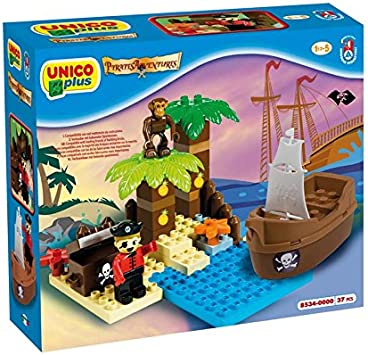 Unico Plus - Isla De Tesoro Pirata Juego de construcción (Androni ...