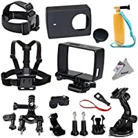 Deyard Y-06 Protective Housing Frame Case 15 in 1 Accessories Bundle for Xiaomi 4K/4K+/Yi Lite Action Camera 2