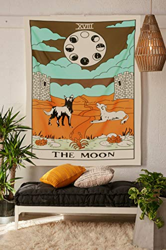 - Simpkeely Tarot Tapestry, The Moon Wall Hanging Tapestries Medieval Europe Divination Tapestry, Hippie Boho Wall Décor for Dorm Bedroom Living Room 59