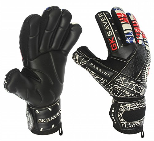 GK Saver Goalkeeper Gloves Soccer Negative Cut Passion UNITY UK Flag Pro Glove (YES Finger save YES Personalization, Size 11) (Keeper Soccer Control)