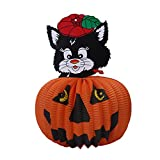 Whitelotous Halloween Light Pendant Paper Props Supply Bar Lantern Horror Ornament (Black Cat)