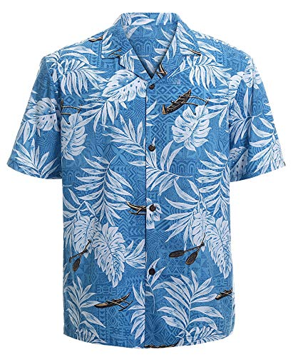 Hawaiian Shirts for Men Short Sleeve Regular Fit Mens Floral Shirts (YH1902,L) -