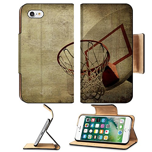 Luxlady Premium Apple iPhone 7 Flip Pu Leather Wallet Case IMAGE ID 3825329 A grunge basketball basket background Lots of Copy space room and cool sepia filter feel