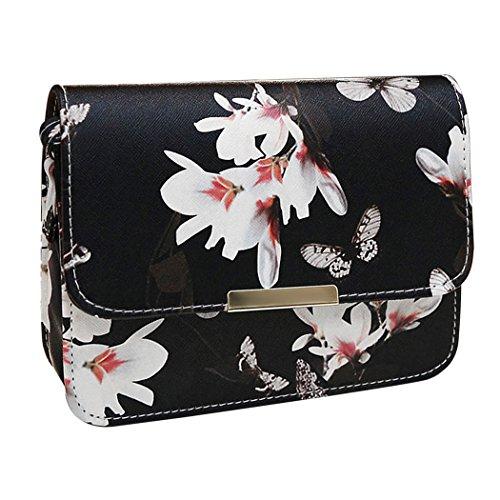 Women Printing Shoulder Bag PU Leather Purse Satchel Messenger Bag - 5