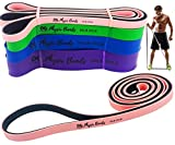 Physix Gear Pull Up Assist Bands – Best Heavy Duty Resistance Band for Assisted Pullups, Muscle Toning, Legs Glutes Crossfit Physical Therapy Stretch Pilates & Yoga – Improve Mobility & Strength (PNK)