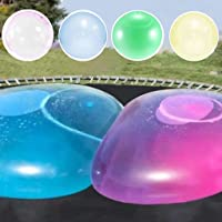 Bubble Ball for Kids 2Pack Large Water Bubble Balloon Inflatable Funny Toy Ball Inflatable Ball Beach Garden Ball for…