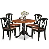 East West Furniture DLKE5-BCH-LC 5 Piece Small Kitchen Table and 4 Dining Chairs Dinette Set Review
