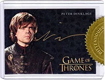 game of thrones season three autograph card peter dinklage