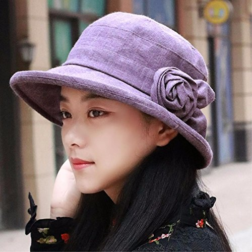 Fisherman Tip - XINQING-MZ Hat the girl basin cap video thin tip of Fisherman's hat visor beach hat sun cap early autumn new, Purple
