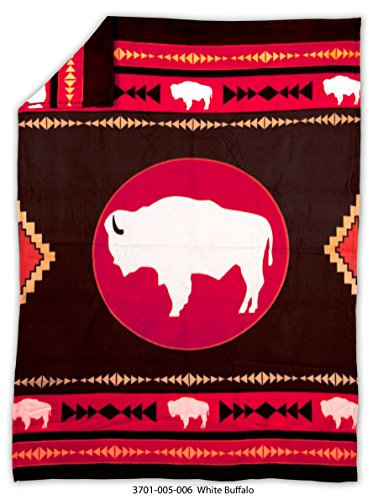 Native American Fleece Blanket - 'White ()