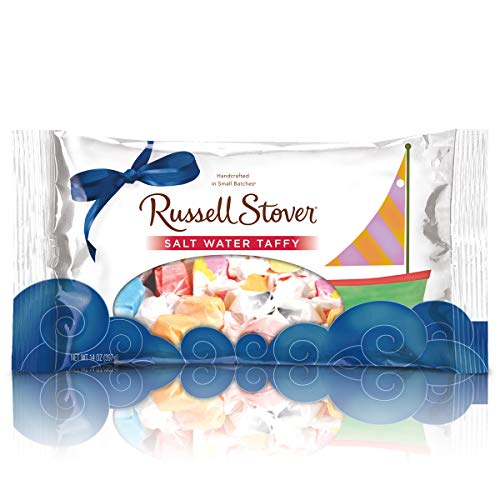 Russell Stover Salt Water Taffy Laydown Bag 14 Ounce Russell Stover Sugar-Free Candy, Assorted Taffy Candy Bag, Individually Wrapped Sugar-Free Taffy Candy Sweetened with Stevia