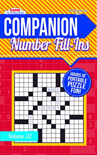 Companion Number Fill Ins Puzzle Book-Volume 32